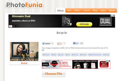 Editar fotos con Photofunia