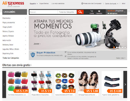 paginas para comprar en china aliexpress
