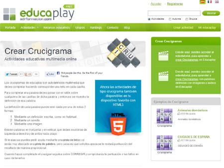 Programa para hacer crucigramas en español en linea